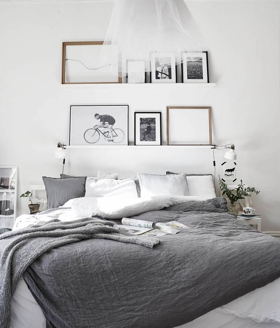 25 Minimalist Bedroom Styling Ideas For White Interiors Blogrope - Gray-bedroom-minimalist