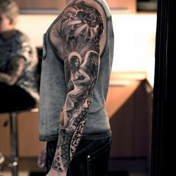 22 professional tattoo designs for men arm shoulder blogrope. Black Bedroom Furniture Sets. Home Design Ideas